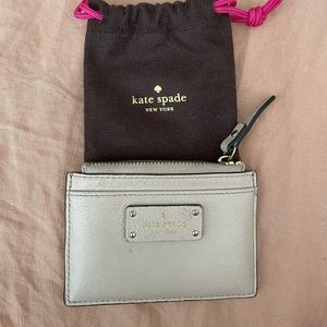 Kate Spade leather card and coin purse